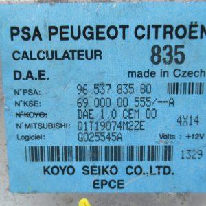 Calculateur de direction assistee – Citroen C2 1,4 HDI 68cv 9653783580 / 6900000555