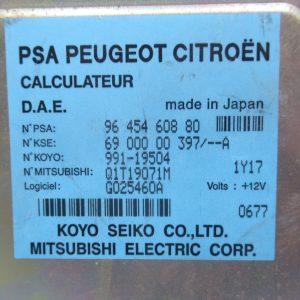 Calculateur de direction assistee Citroen C3 phase 1  1,4i SX 73cv 9645460880 / 6900000397