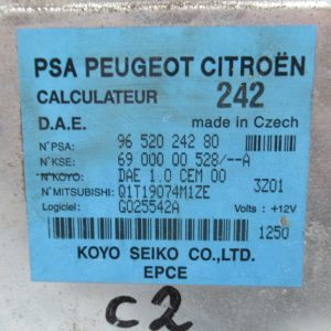 Calculateur de direction assistee – Citroen C2 1,4i 73cv 9652024280 / 6900000528