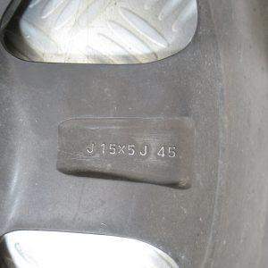 Jante Alu 15 pouce 4 trous J15x5J Toyota IQ