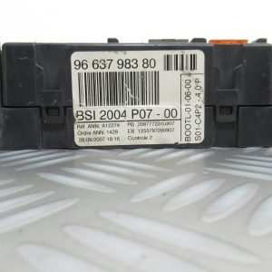 Boitier BSI Valeo Peugeot 207 9663798380 / BSI2004P07-00
