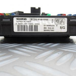 Boitier BSI Siemens Peugeot 206 1.1L Essence 9649627880 / S118085220A