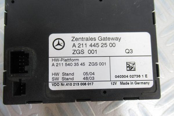 Module de centralisation Mercedes Classe E 270 Cdi A2114452500