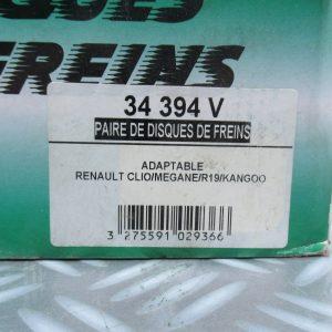 Disques de frein Renault 34394V