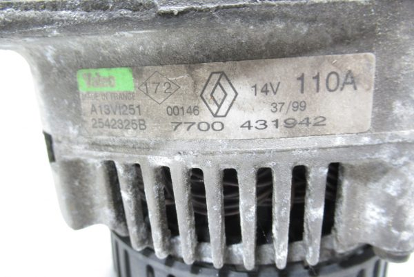 Alternateur Valeo Renault Megane Scenic  1.9D 7700431942