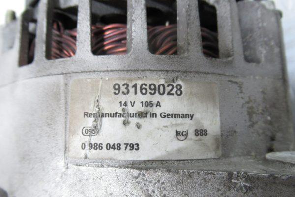 Alternateur Opel Zafira B 1.9 CDTI