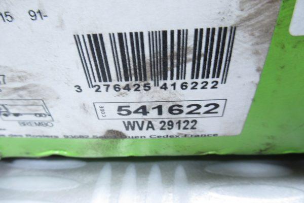 Plaquettes de frein avant Iveco Daily 4 541622