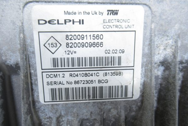 Kit de demarrage Renault Clio 3 PH2 1.5 DCI 70 CV 8200911560