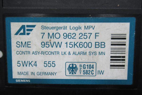 Cde Verrouillage Centralisé Ford Galaxy 7 MO 962 257 F