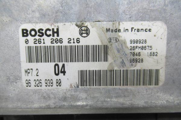Calculateur Moteur Peugeot 206 0261206216