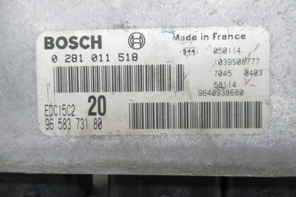 Calculateur Moteur Citroen Xsara Picasso 0281011518