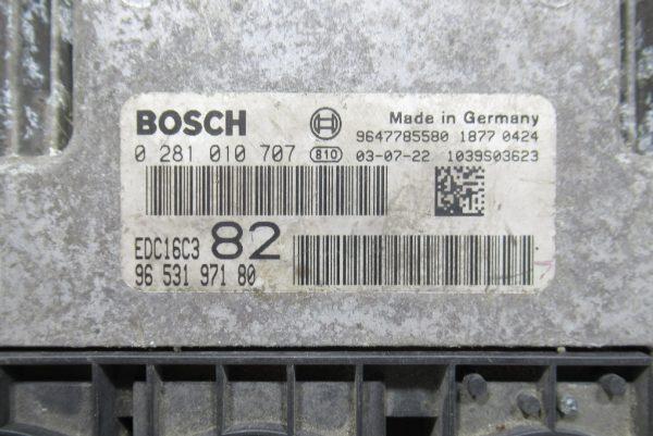 Calculateur Moteur Peugeot 206 HDI 0281010707