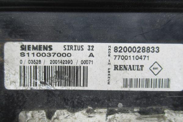 Calculateur Moteur Renault Scénic 2 8200028833