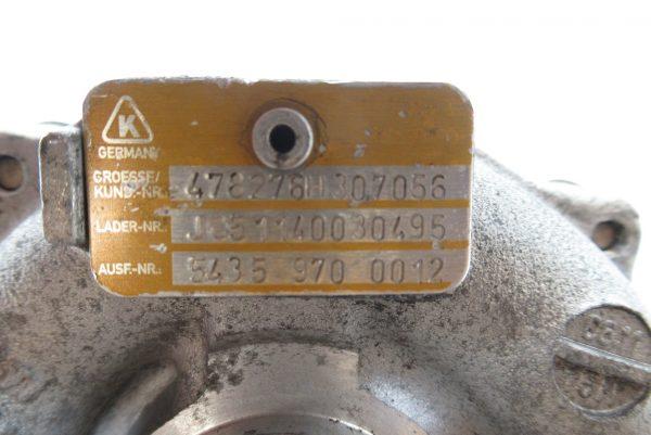 Turbo Renault Megane 2 1.5L DCI 54359700012 / 478276H307056