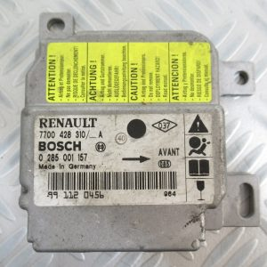 Calculateur d'airbag Bosch Renault Clio 2 7700428510 – 0285001157
