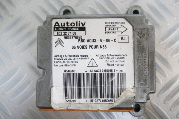 Calculateur d'airbag Citroen Xsara Picasso 9632276980 / 602327400