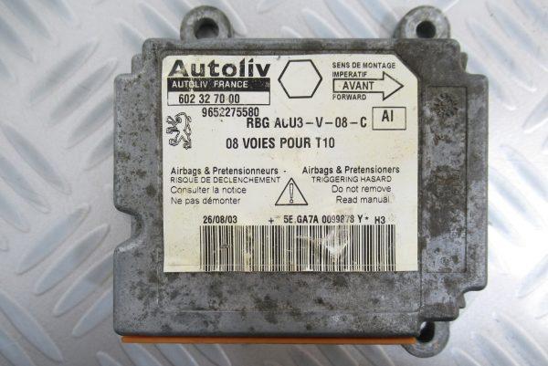 Calculateur d'airbag Peugeot 206 9652275580 / 602327000