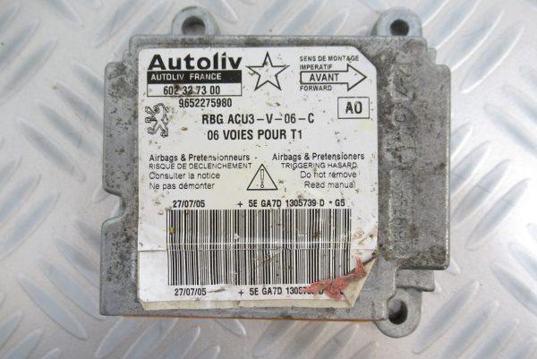 Calculateur d'airbag Peugeot 206 9652275980 / 602327300