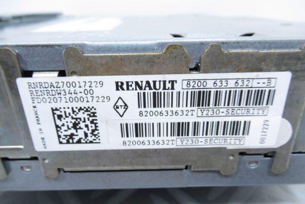 Autoradio Renault 8200633632