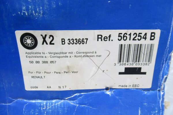 Disques de frein avant (X2) Bendix Renault Master 1 561254B