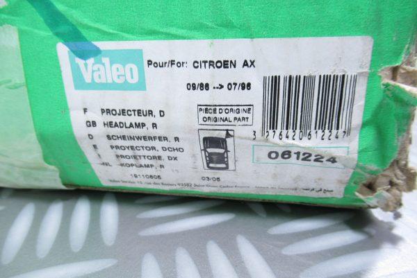 Optique avant droit Citroën 061224
