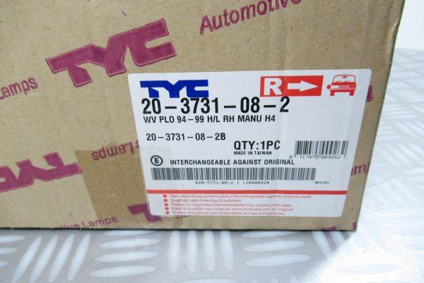 Optique avant droit Volkswagen 203731082