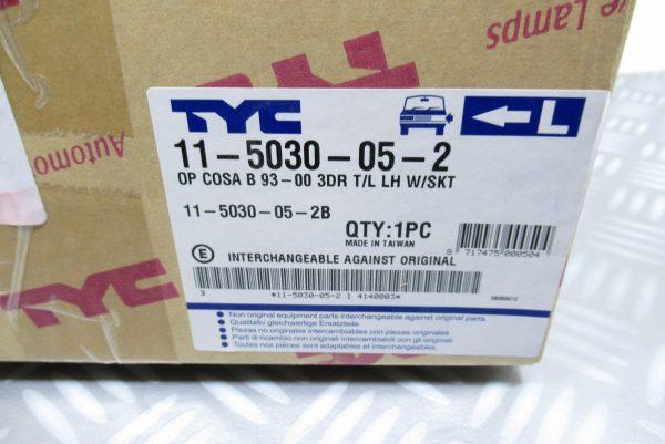 Feu arrière gauche Automotive Lamps Opel Corsa B 115030052