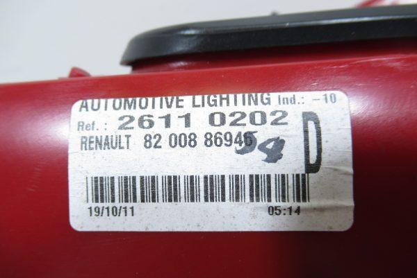 Feu arriere droit Renault Clio 3 820088694