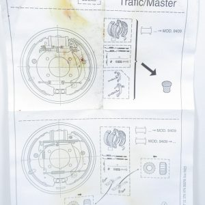 Kit de frein à tambours TRW Renault Master 1 / 7701206412