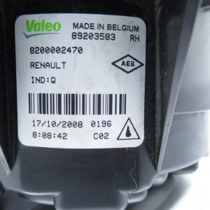 Anti brouillard avant droit Valeo Renault Cio 3 8200002470