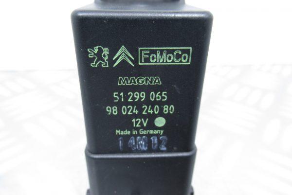 Relais de prechauffage Citroen C3 9802424080