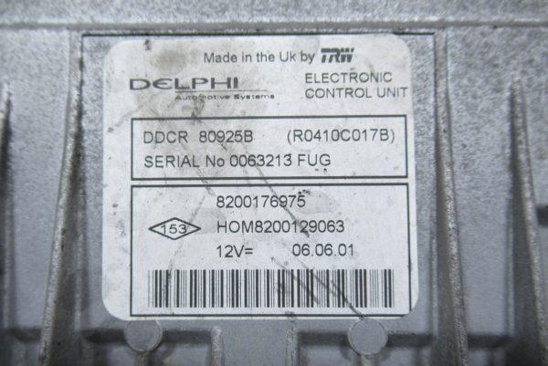 Kit de démarrage Renault Clio 2 PH2 1.5 DCI 8200176975