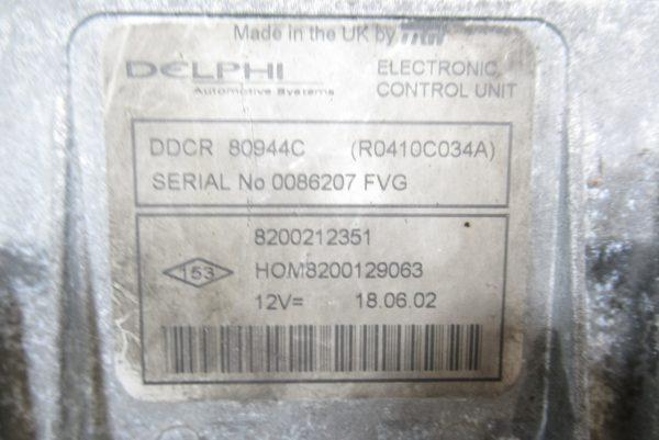 Kit de démarrage Renault Clio 2 PH2 1.5 DCI 65 CV 8200212351