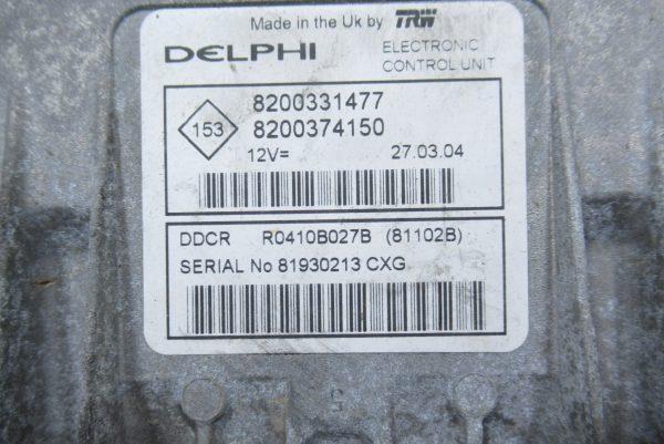 Kit de démarrage Renault Clio 2 1.5 dci 8200331477